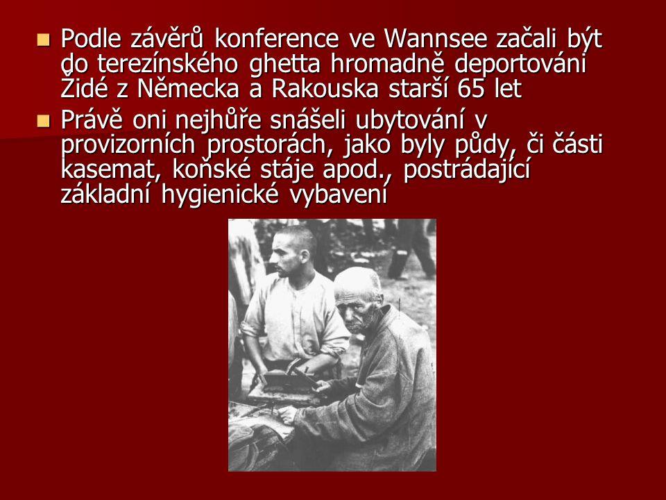 Podle závěrů konference ve Wannsee začali být do terezínského ghetta hromadně deportováni Židé z Německa a Rakouska starší 65 let