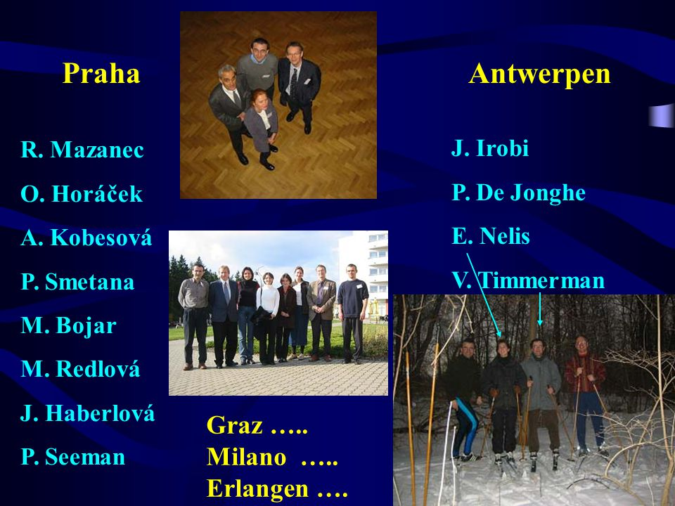 Praha Antwerpen Graz ….. Milano ….. Erlangen …. R. Mazanec J. Irobi