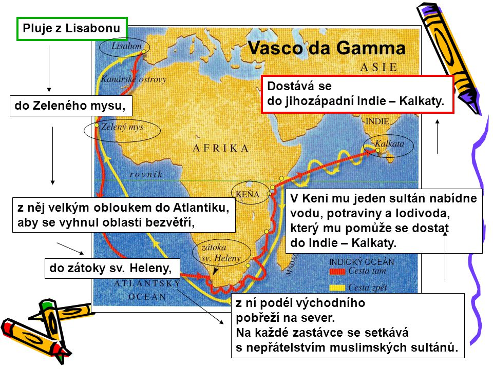 Vasco da Gamma Pluje z Lisabonu Dostává se