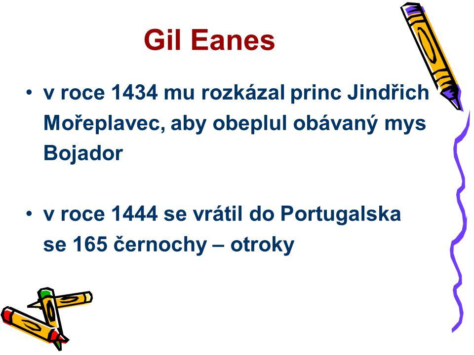Gil Eanes v roce 1434 mu rozkázal princ Jindřich
