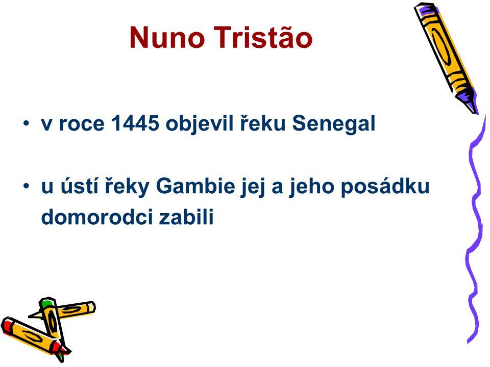 Nuno Tristão v roce 1445 objevil řeku Senegal