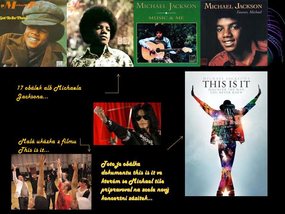 17 obálek alb Michaela Jacksona…