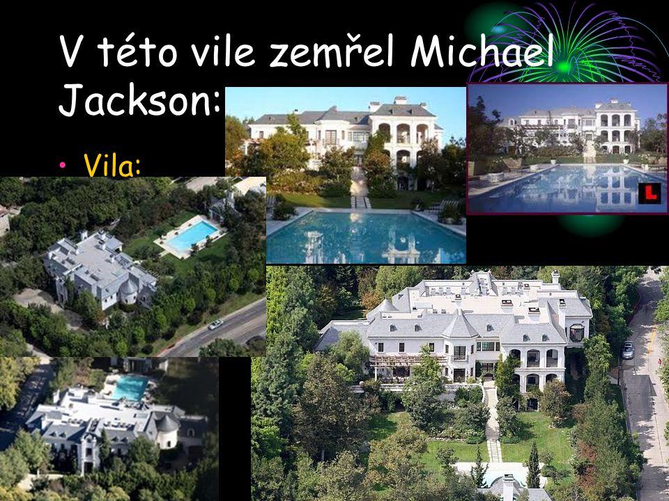 V této vile zemřel Michael Jackson: