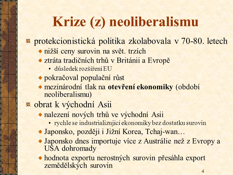 Krize (z) neoliberalismu