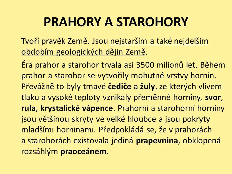 PRAHORY A STAROHORY
