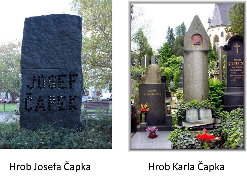 Hrob Josefa Čapka Hrob Karla Čapka