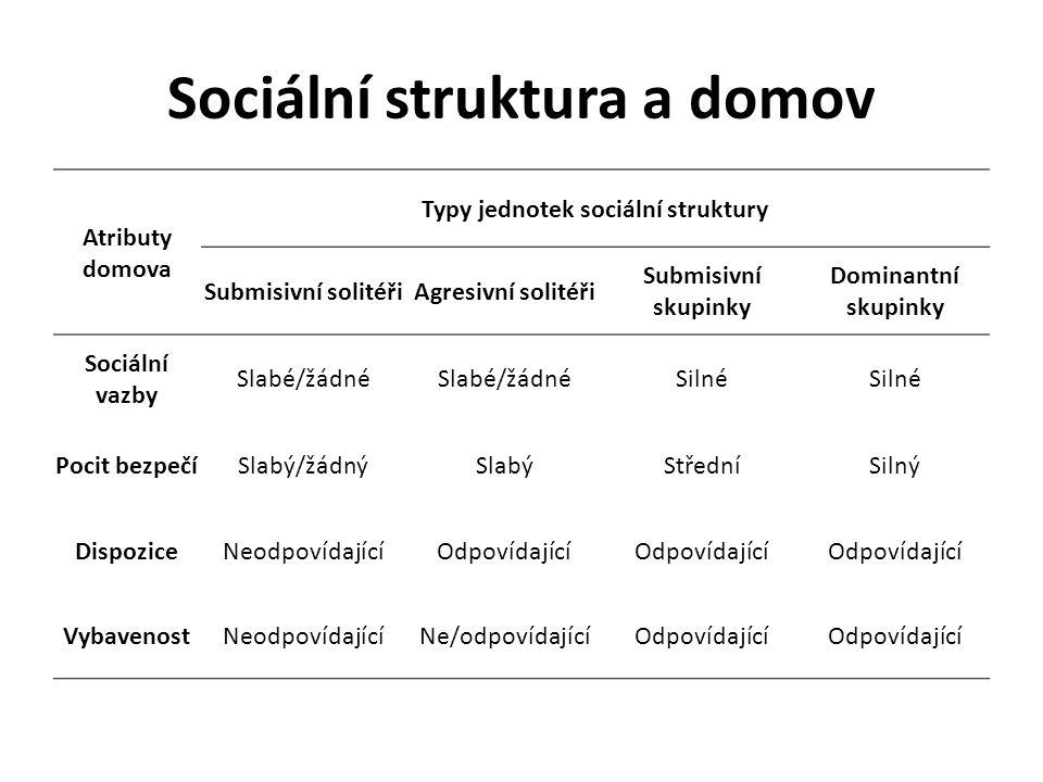 Sociální struktura a domov