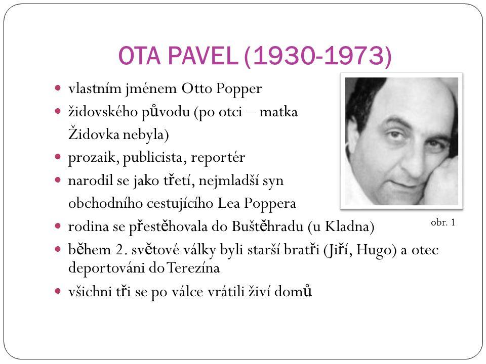 OTA PAVEL (1930-1973) vlastním jménem Otto Popper