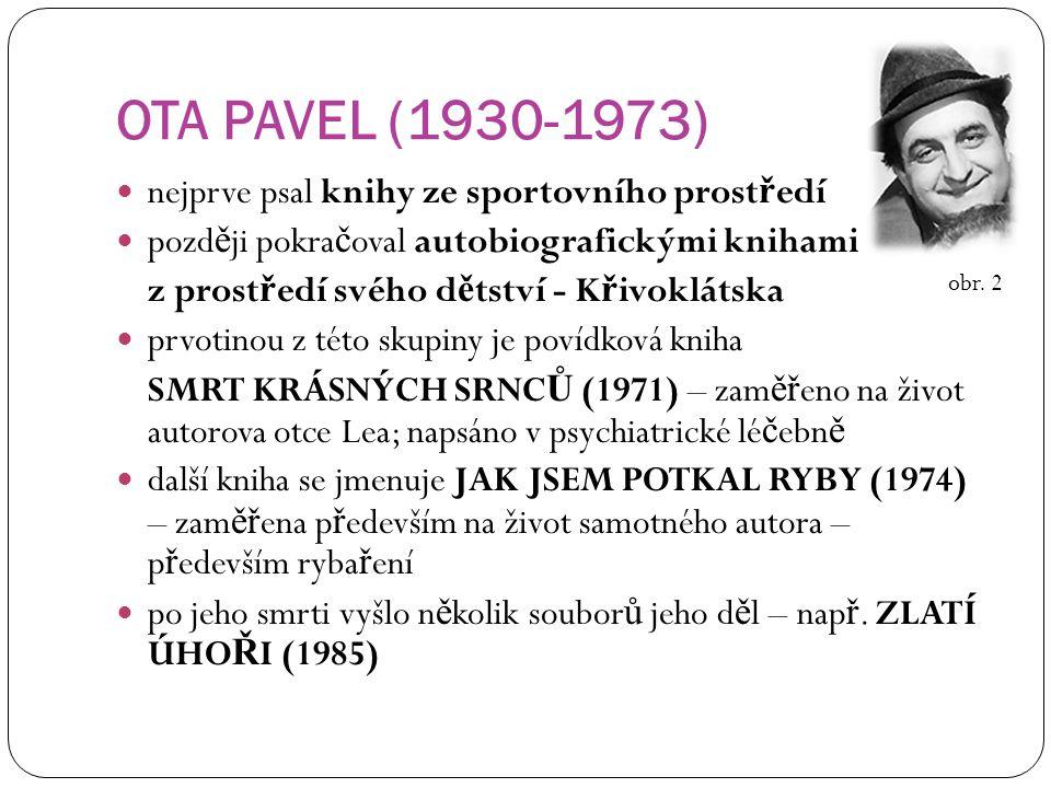 OTA PAVEL (1930-1973) nejprve psal knihy ze sportovního prostředí