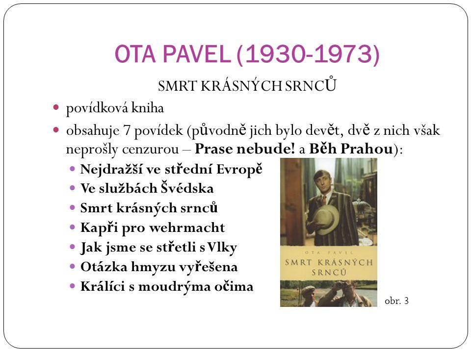 OTA PAVEL (1930-1973) SMRT KRÁSNÝCH SRNCŮ povídková kniha
