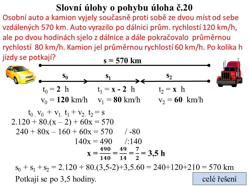 Slovní úlohy o pohybu úloha č.20