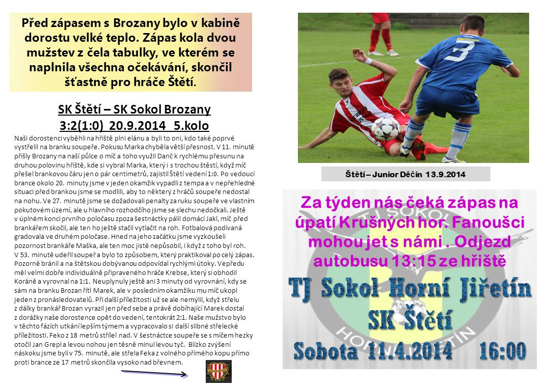 SK Štětí – SK Sokol Brozany
