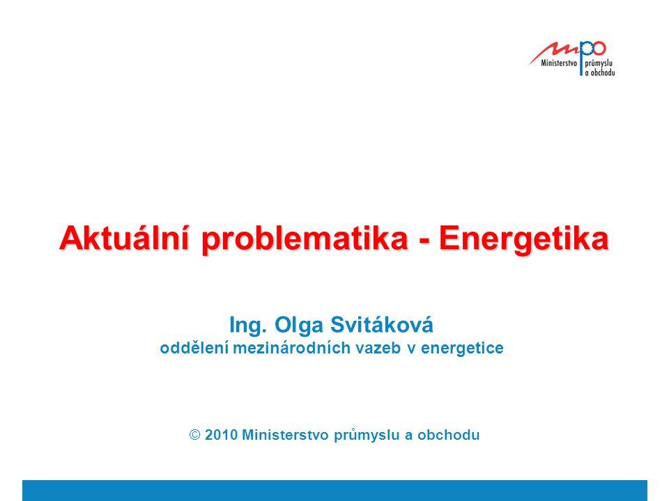 Aktuální problematika - Energetika