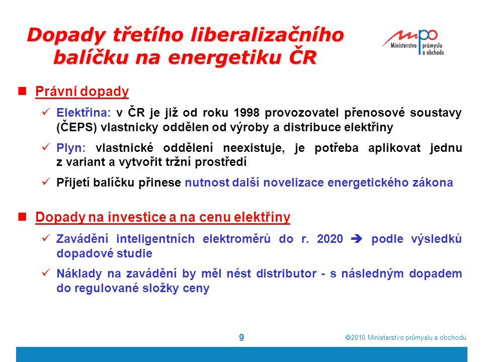 Dopady třetího liberalizačního balíčku na energetiku ČR