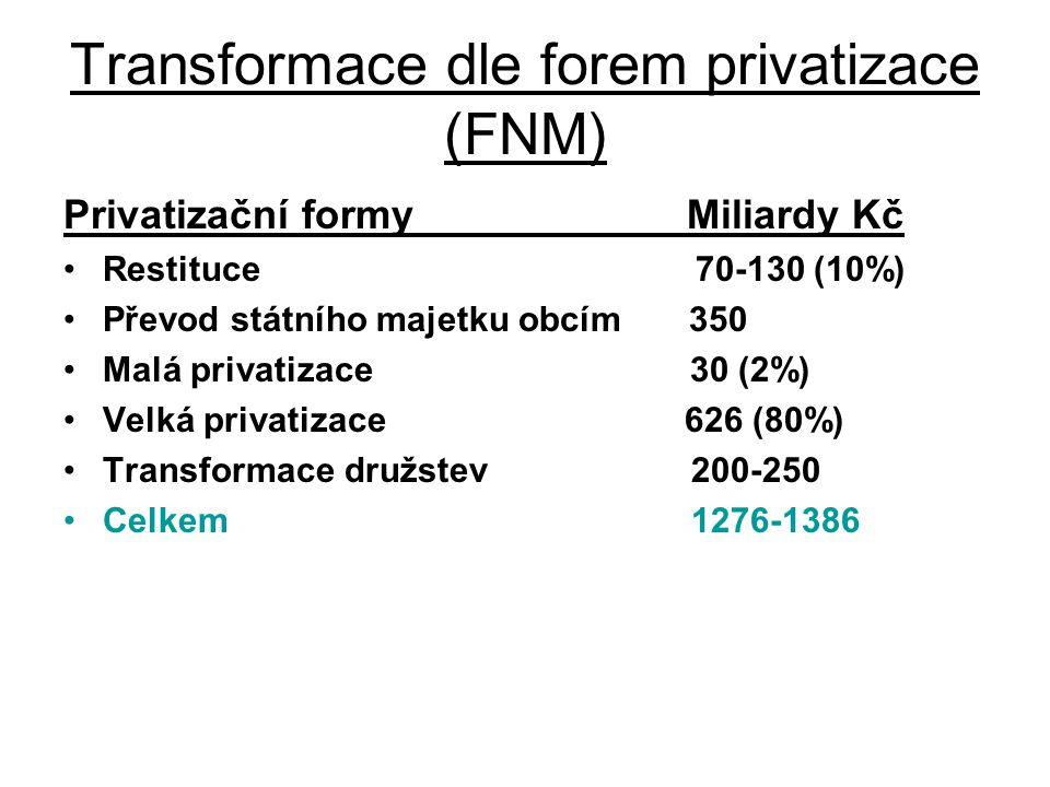 Transformace dle forem privatizace (FNM)