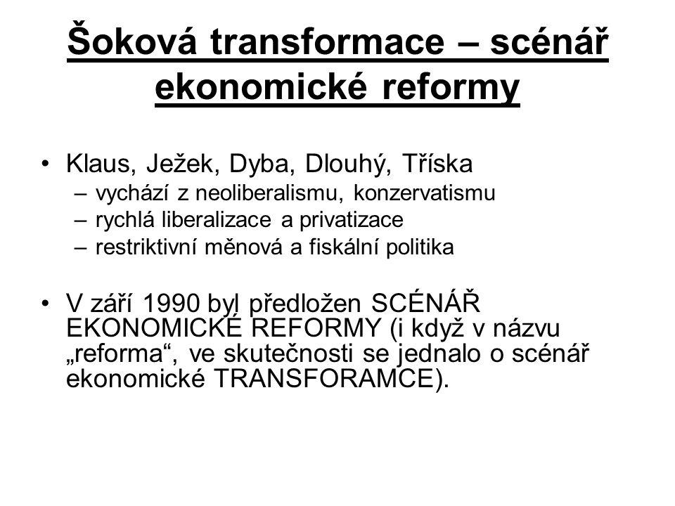 Šoková transformace – scénář ekonomické reformy