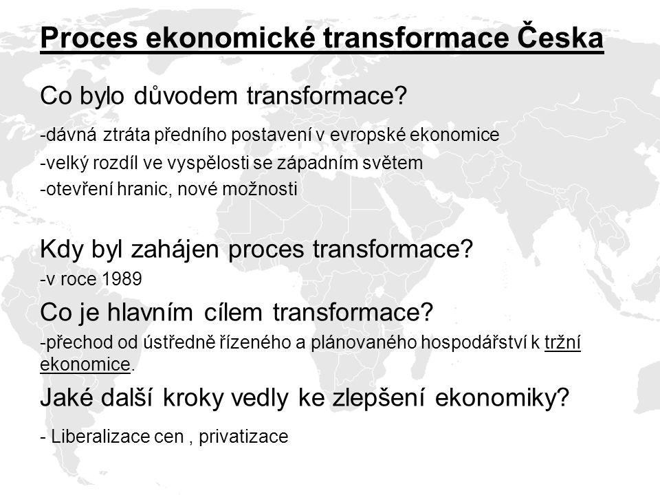 Proces ekonomické transformace Česka