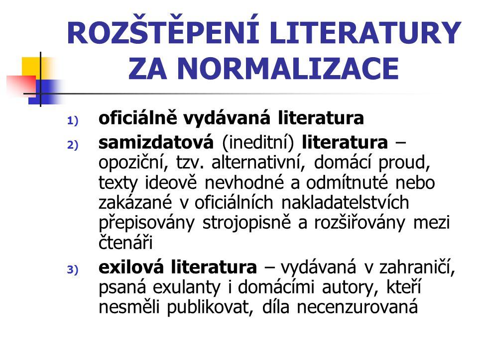 ROZŠTĚPENÍ LITERATURY ZA NORMALIZACE