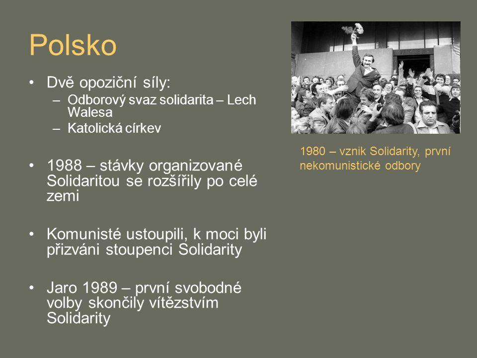 Polsko Dvě opoziční síly: