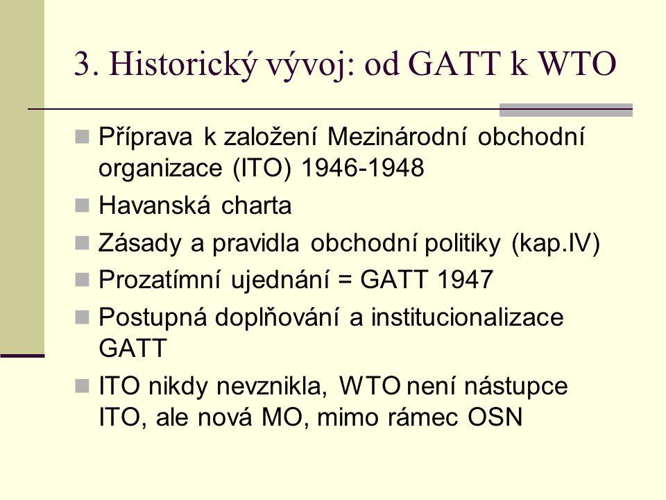 3. Historický vývoj: od GATT k WTO