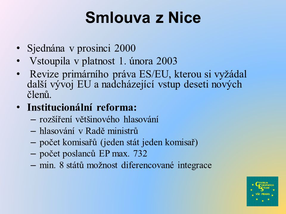Smlouva z Nice Sjednána v prosinci 2000