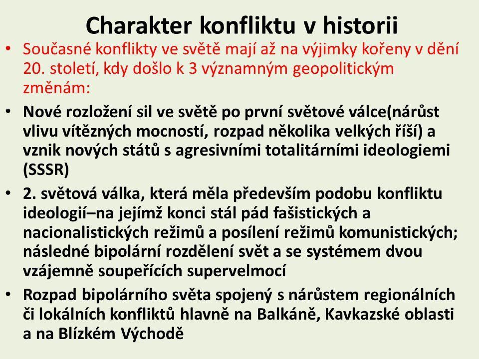 Charakter konfliktu v historii