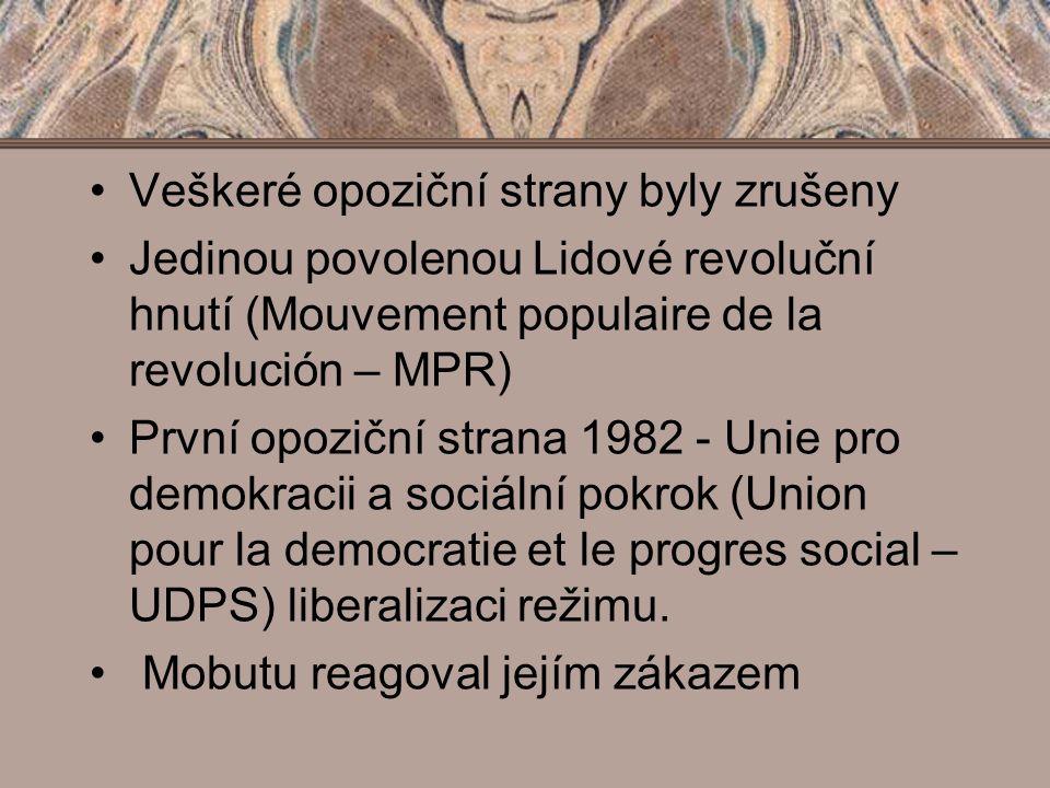 Veškeré opoziční strany byly zrušeny