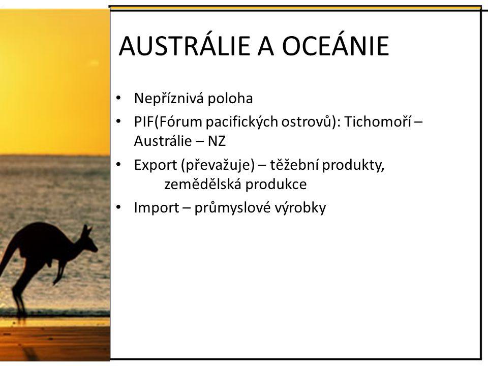 AUSTRÁLIE A OCEÁNIE Nepříznivá poloha
