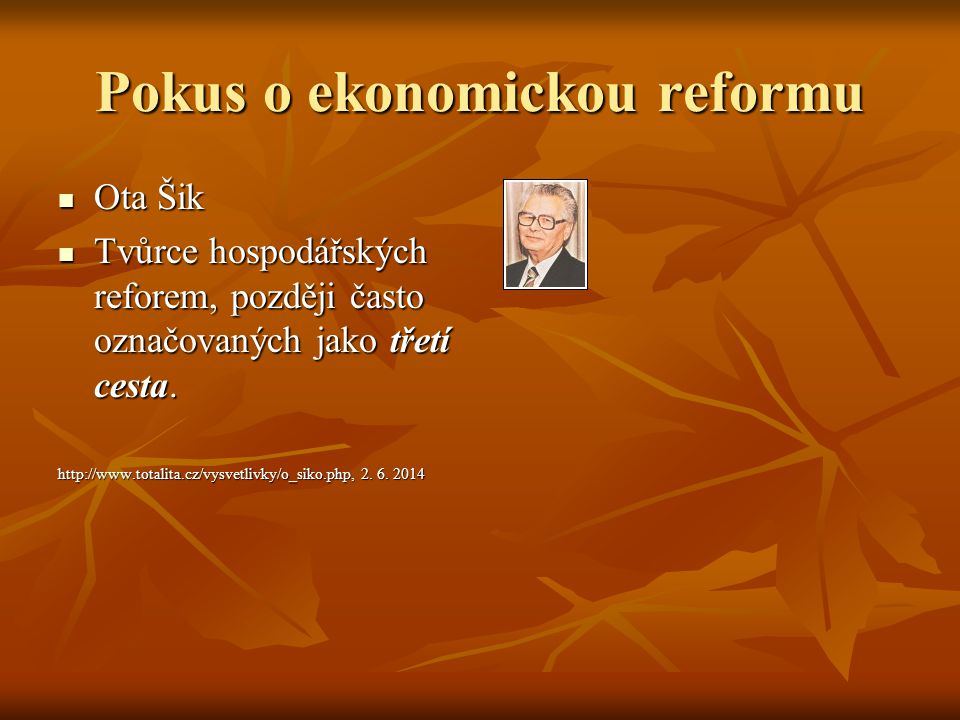 Pokus o ekonomickou reformu