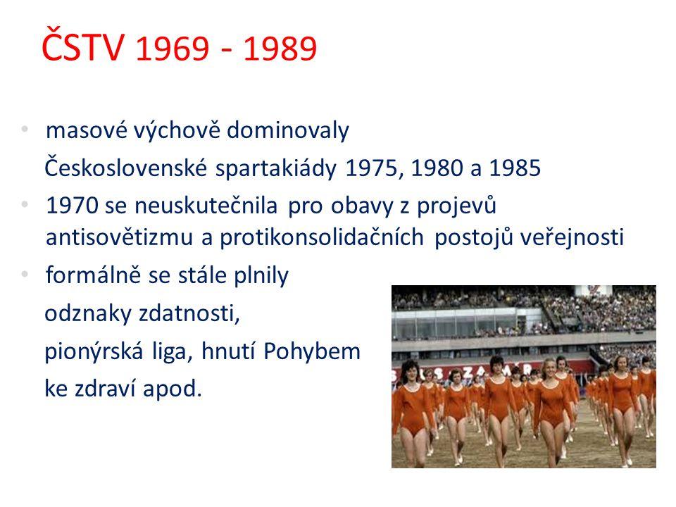 ČSTV 1969 - 1989 masové výchově dominovaly