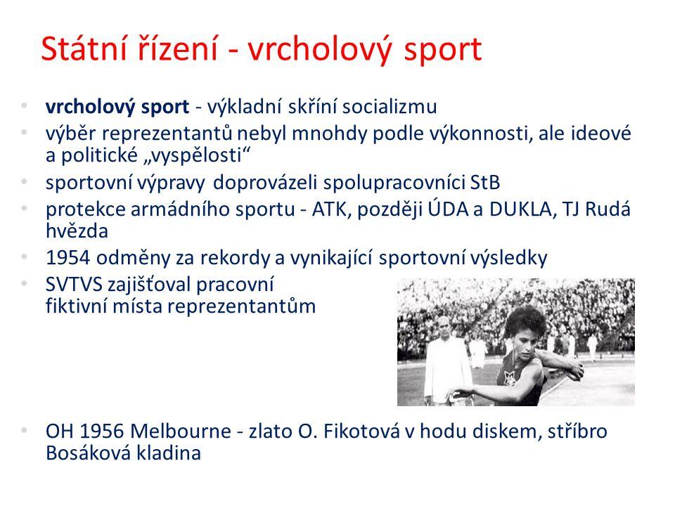 Státní řízení - vrcholový sport