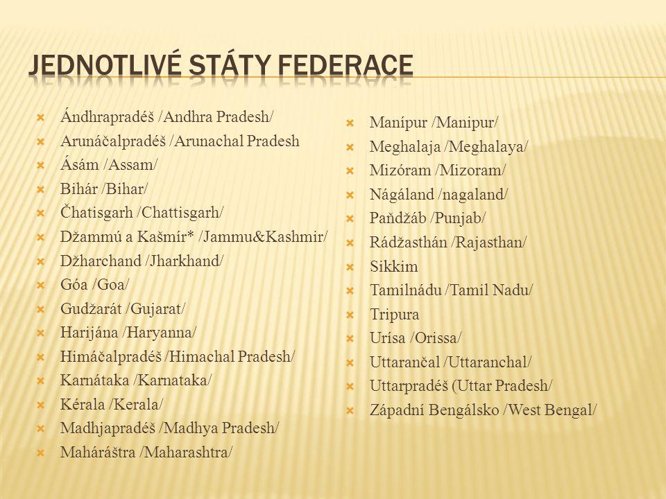 Jednotlivé státy federace