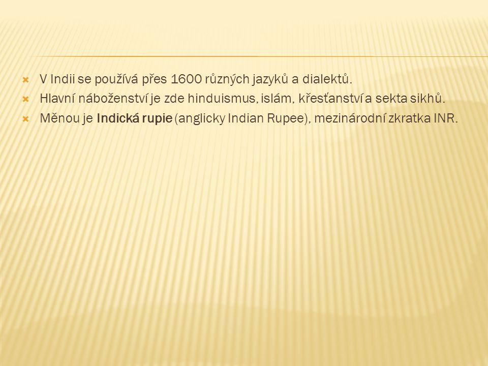 V Indii se používá přes 1600 různých jazyků a dialektů.
