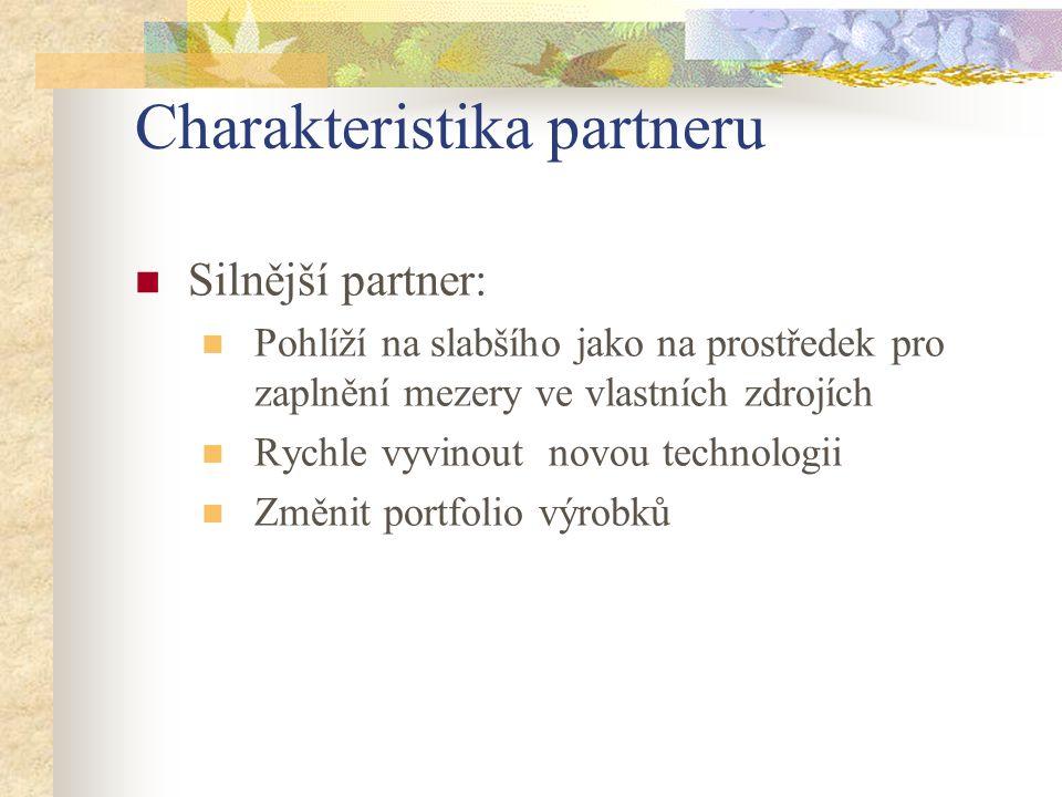 Charakteristika partneru