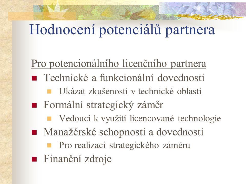 Hodnocení potenciálů partnera
