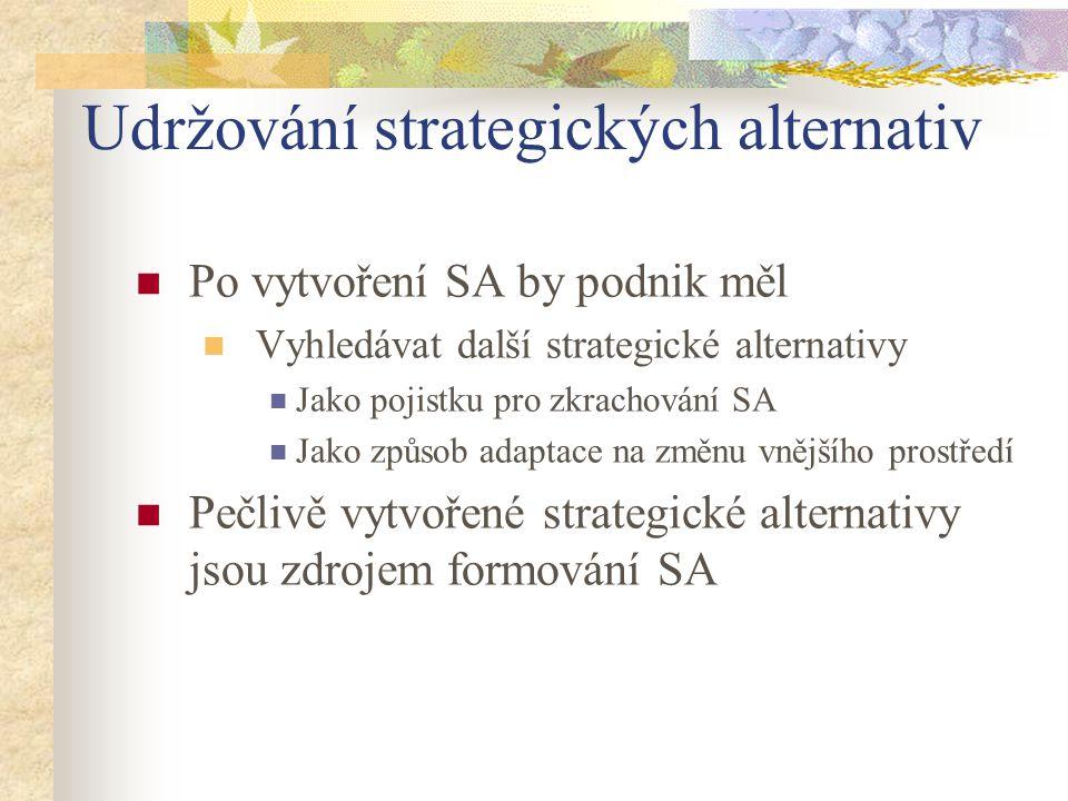 Udržování strategických alternativ
