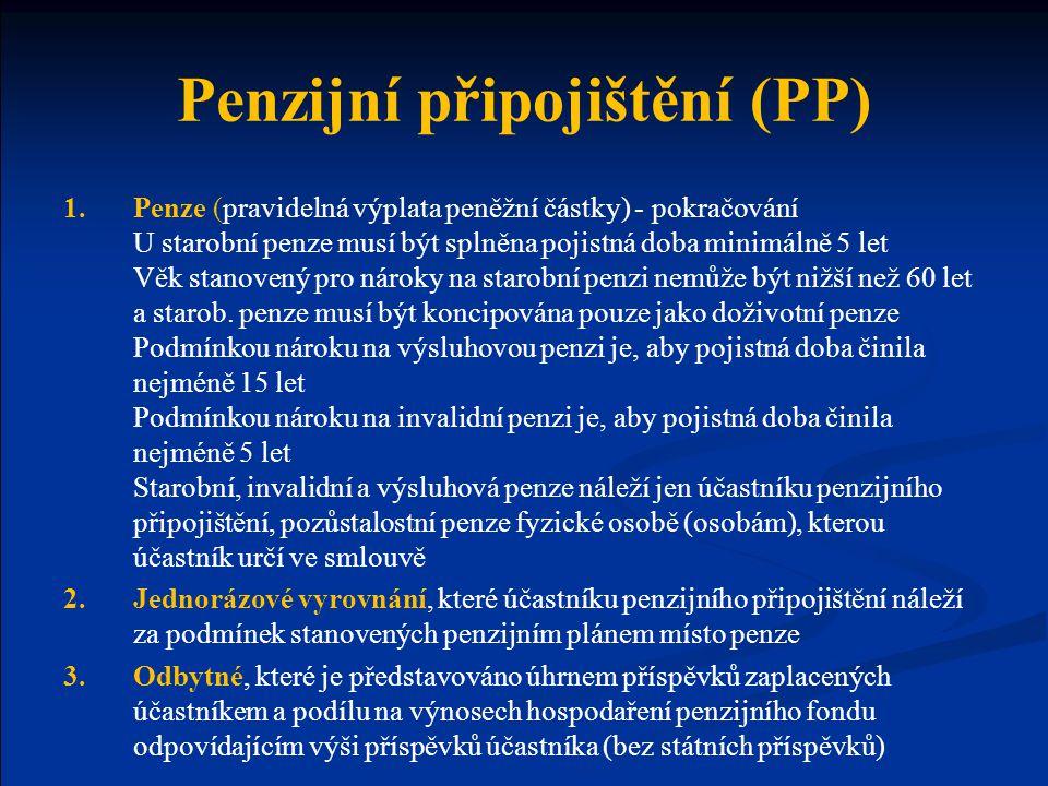 Penzijní připojištění (PP)
