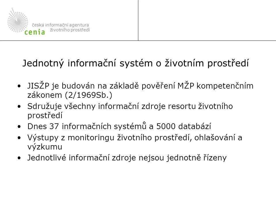 Jednotný informační systém o životním prostředí