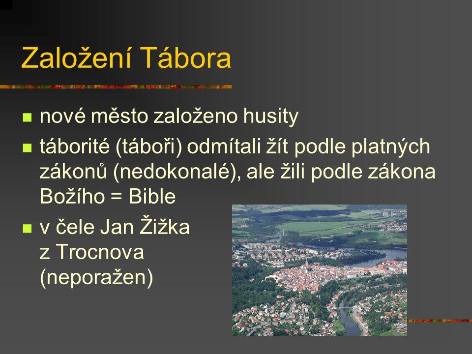 Založení Tábora nové město založeno husity