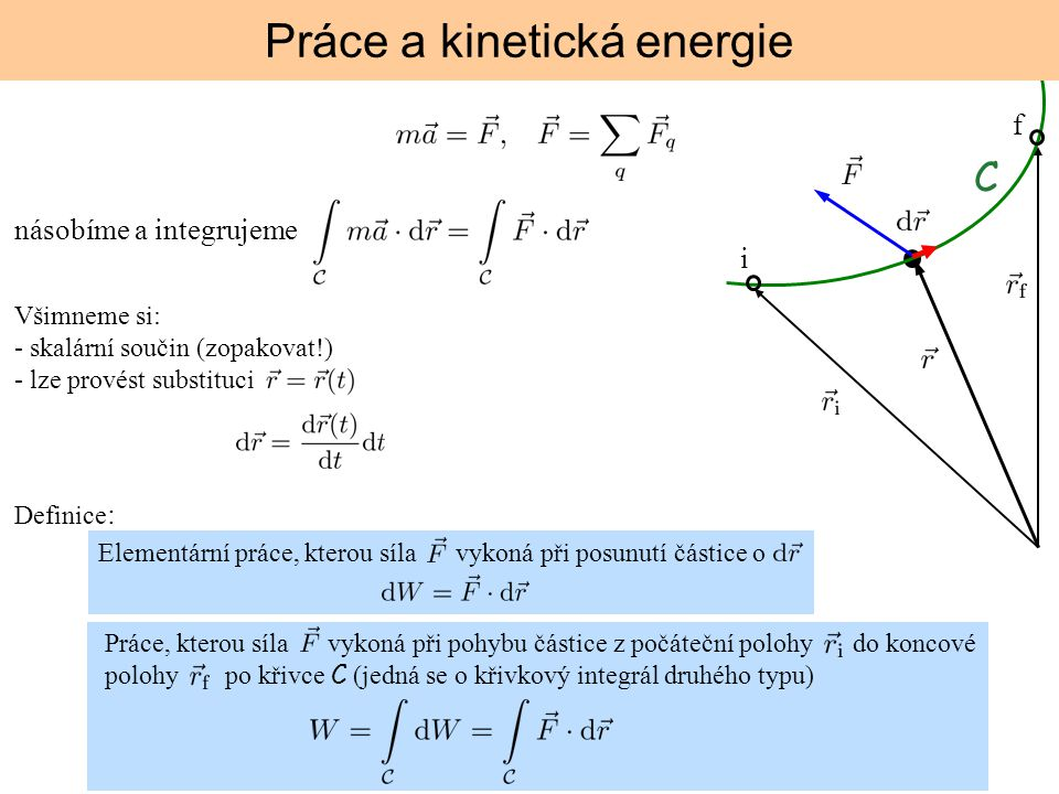 Práce a kinetická energie