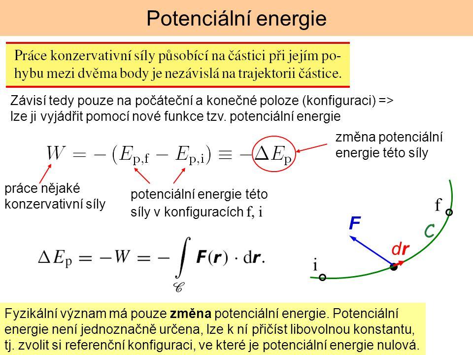 Potenciální energie f F C dr i