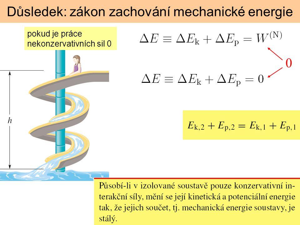Důsledek: zákon zachování mechanické energie