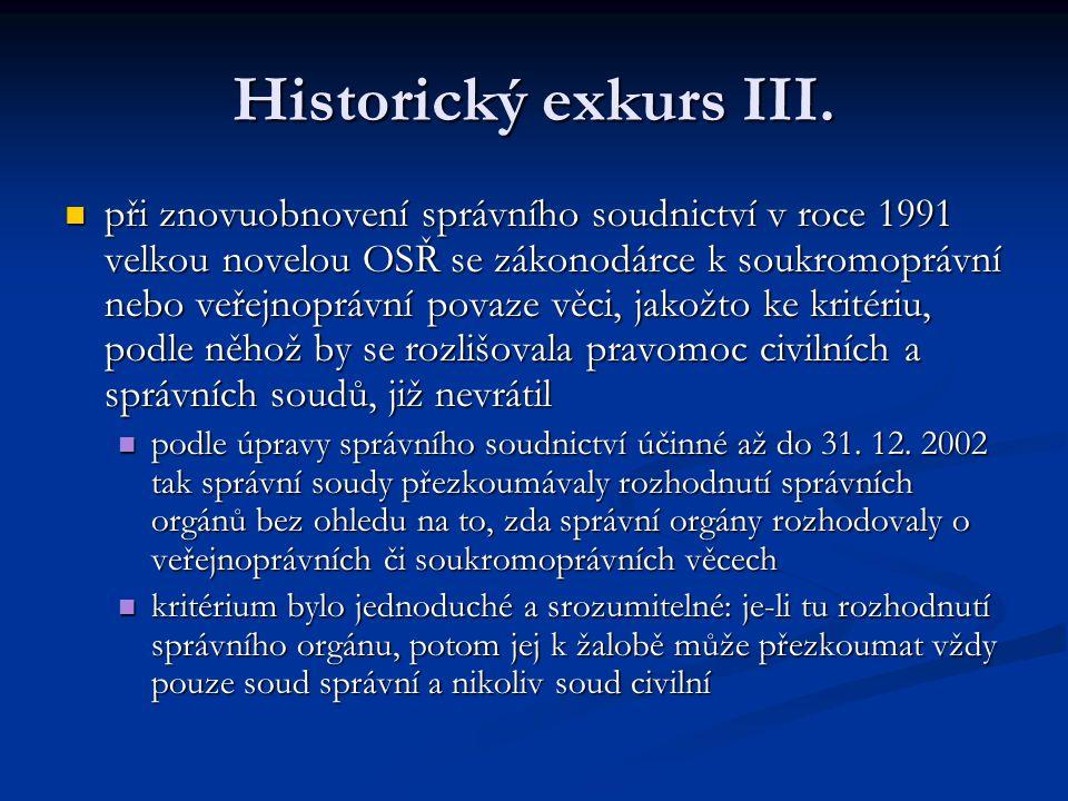 Historický exkurs III.