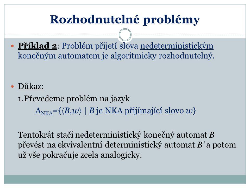 Rozhodnutelné problémy