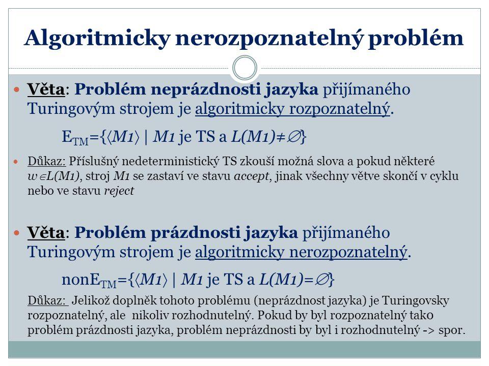Algoritmicky nerozpoznatelný problém