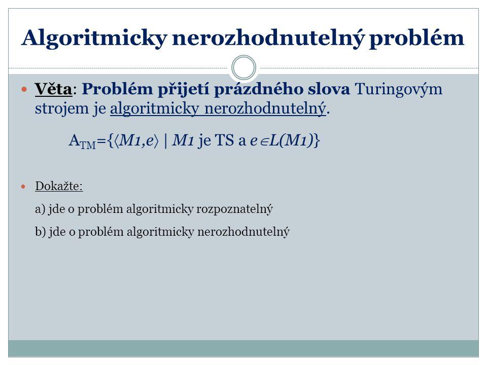 Algoritmicky nerozhodnutelný problém