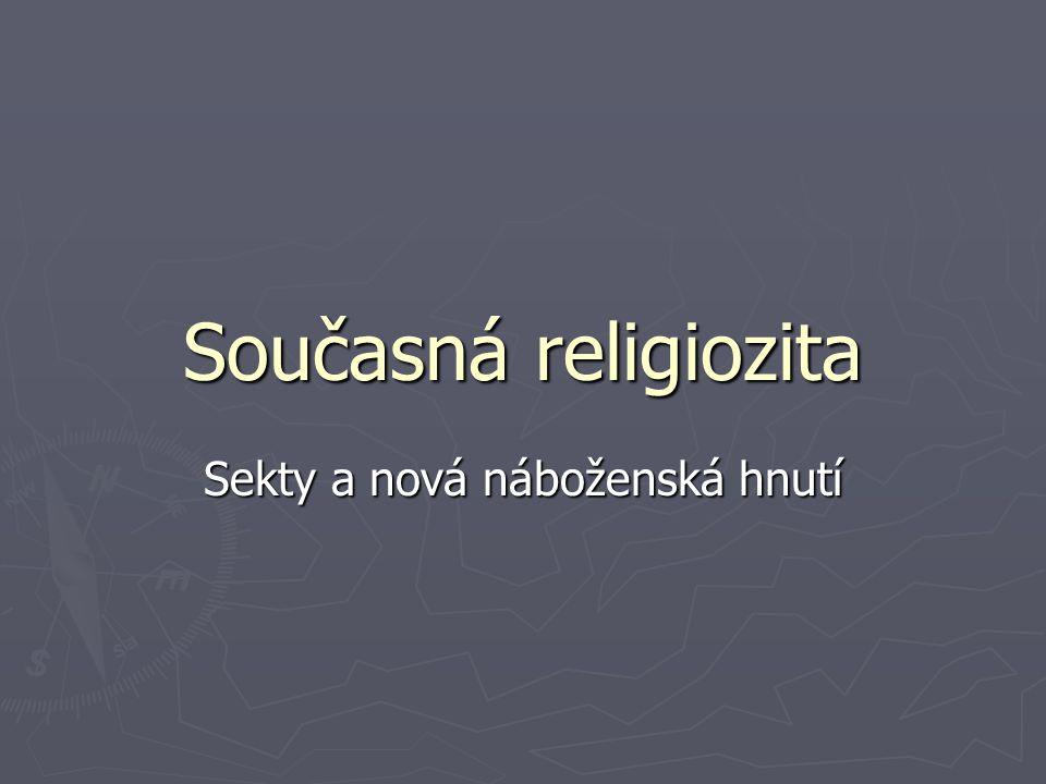 Sekty a nová náboženská hnutí