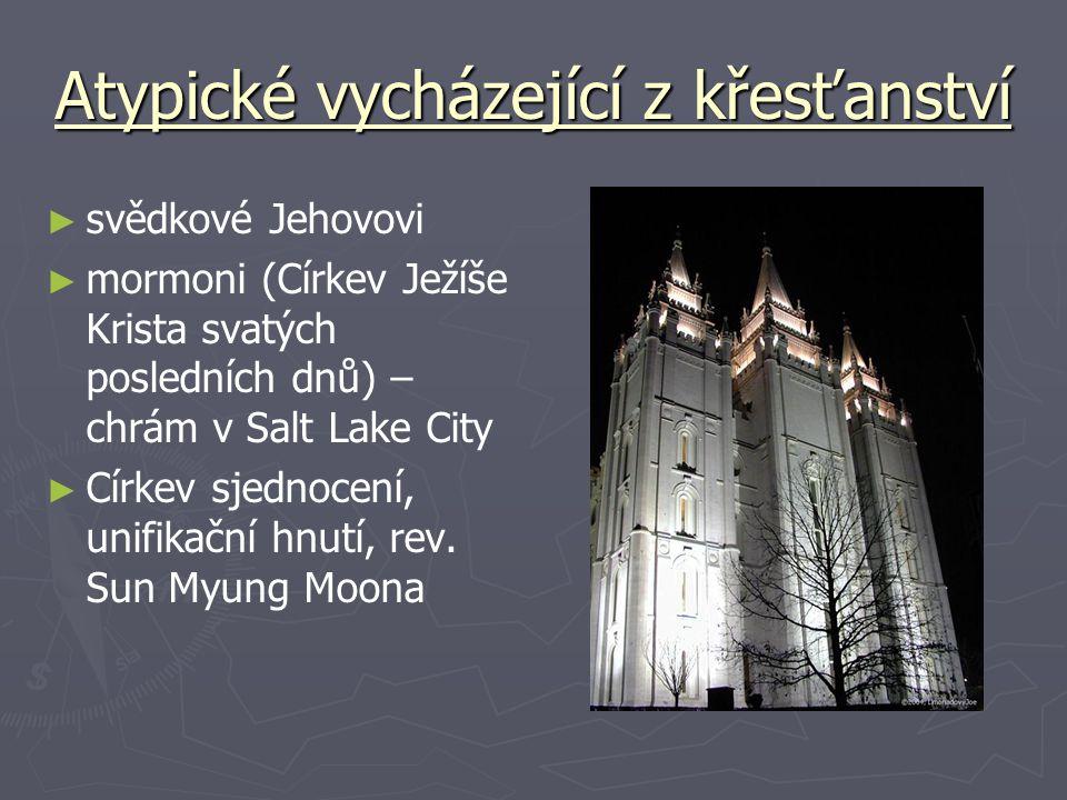 Atypické vycházející z křesťanství