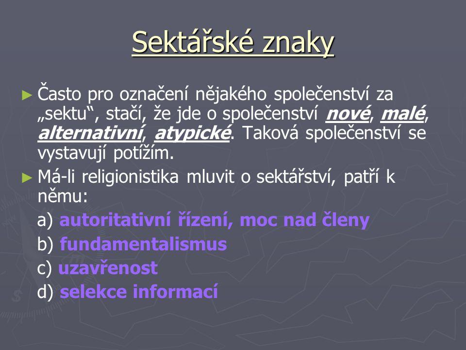 Sektářské znaky