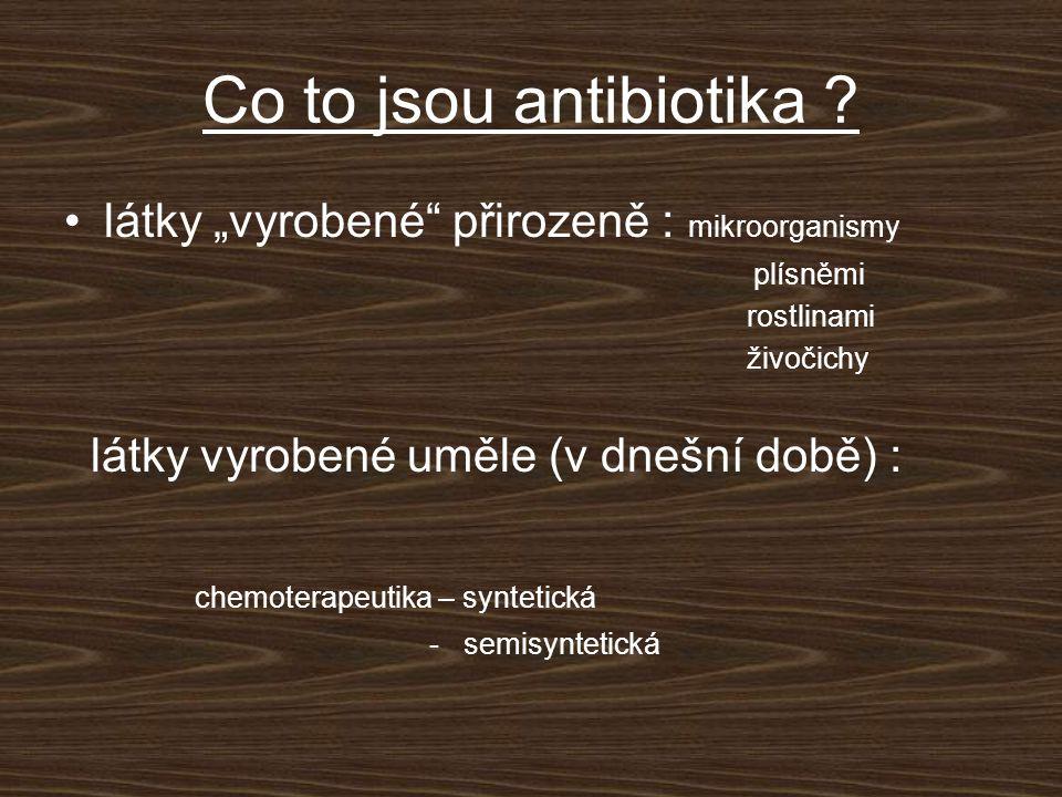 """Co to jsou antibiotika látky """"vyrobené přirozeně : mikroorganismy"""